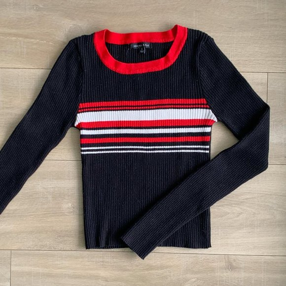 Kendall & Kylie striped long sleeve
